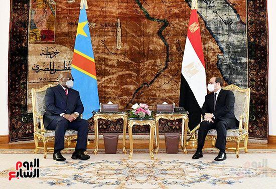السيسى مع نظيره الكونغولى بالاتحادية (9)