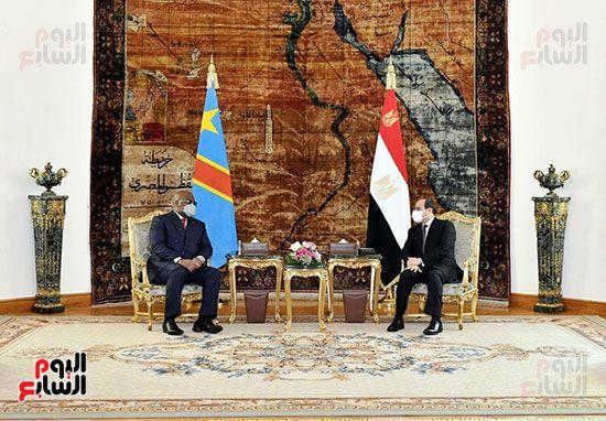 الرئيس عبد الفتاح السيسى و فليكس تشيسكيدى رئيس الكونغو