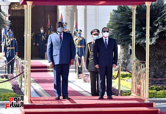 السيسى مع نظيره الكونغولى بالاتحادية (7)