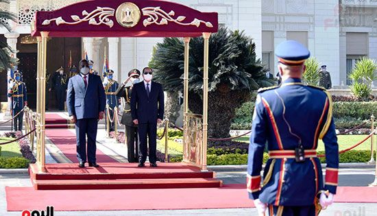 الرئيس عبد الفتاح السيسى و فيليكس تشيسيكيدي رئيس جمهورية الكونغو الديمقراطية