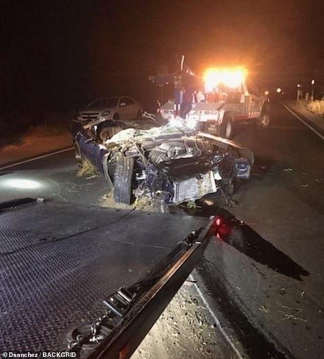 سيارة كيفين هارت بعد الحادث