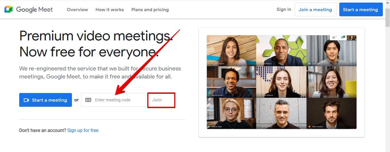 كيف تستخدم رموز تطبيق Google Meet للانضمام إلى الاجتماعات؟