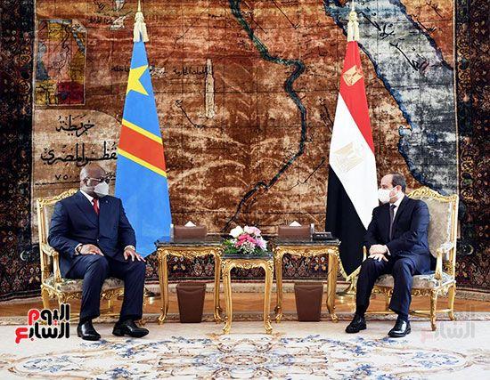 السيسى مع نظيره الكونغولى بالاتحادية (4)
