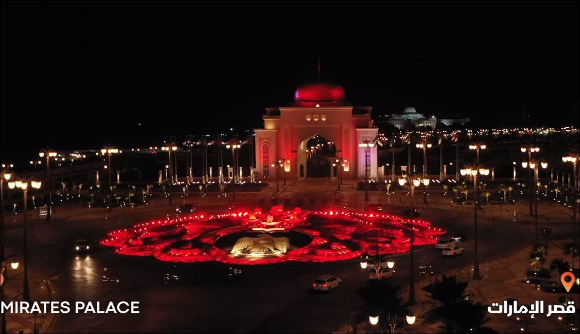 معالم الإمارات تكتسى بالأحمر (3)