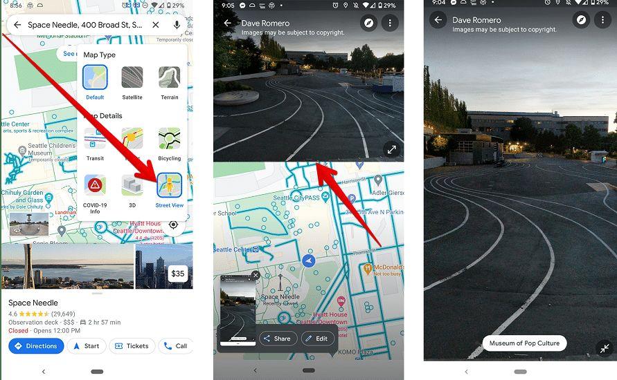 طريقة تقسيم الشاشة في Google Maps