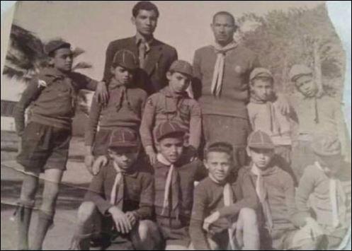 صورة نادرة لمحمد صبحى فى المدرسة