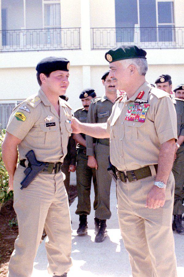 الملك عبد الله ووالده