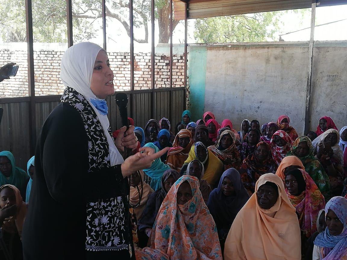 الدكتورة وفاء عبد السلام الواعظة المتطوعة بوزارة الأوقاف