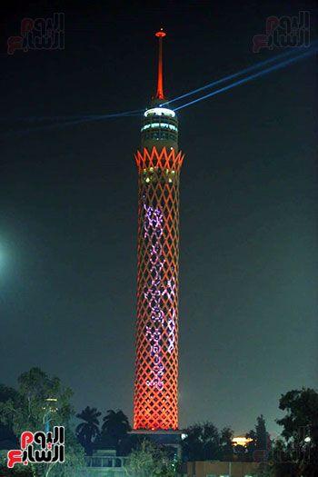 برج القاهرة يحتفل بالامارات