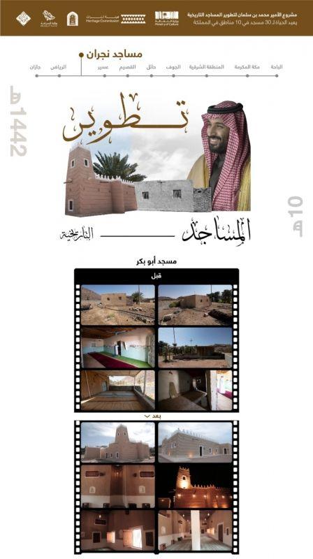 مشروع محمد بن سلمان ينتهي من ترميم مسجد أبوبكر الصديق في نجران