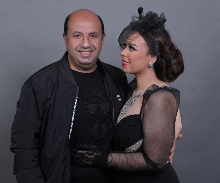 مروة ناجي بصحبة زوجها