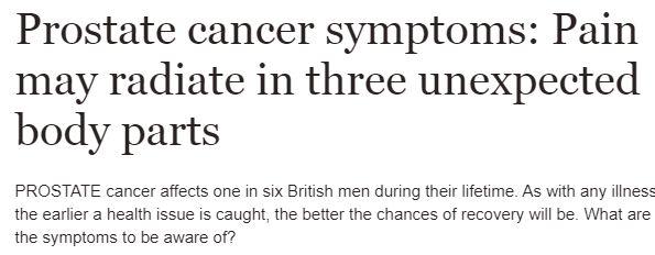 ما هي أعراض الإصابة بسرطان البروستاتا؟