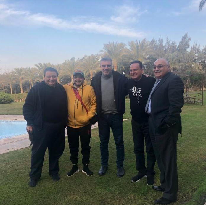 محمد هنيدي وخالد جلال ومحمد نوار والليثي في ضيافة صديقى يوسف معاطى