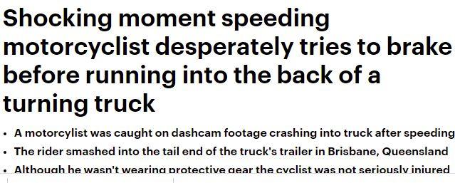 فيديو .. سائق دراجة نارية ينجو بأعجوبة من الموت