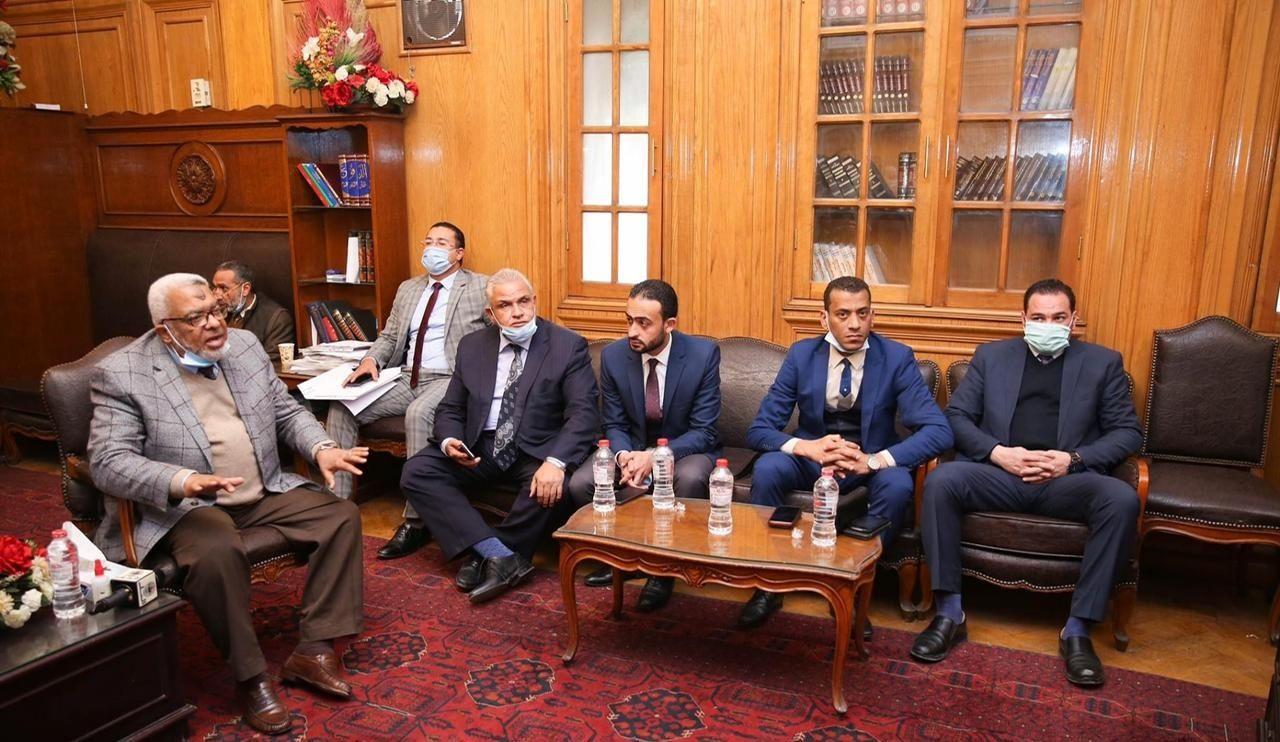 لقاء رجائى عطية ومجلس نقابة المحامين بجنوب القاهرة