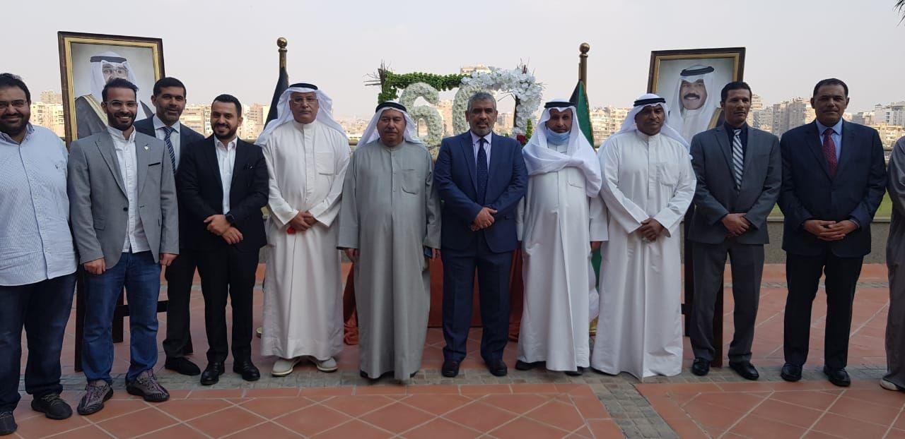 السفير الكويتى واعضاء البعثة الدبلوماسية الكويتية يحتفلون بالأعياد الوطنية للدولة