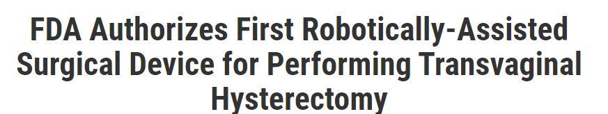 اول جراح روبوت للمساعدة فى عملية استشصال الرحم