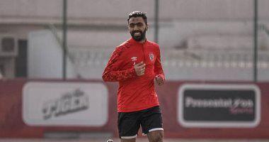 حسين الشحات يشارك في تدريبات الأهلي قبل مباراة فيتا كلوب