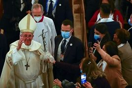 جانب من زيارة البابا