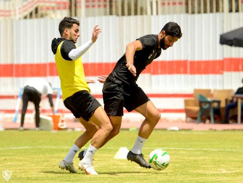 احمد زيزو يشارك فى التدريبات