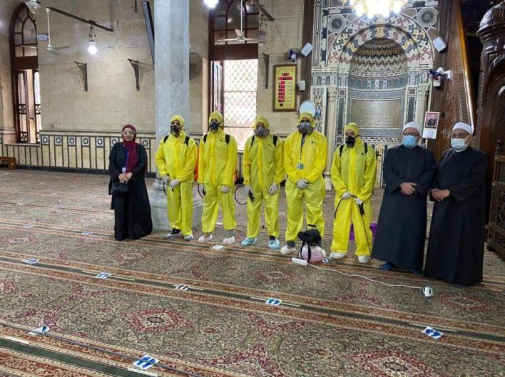 تعقيم مسجد أحمد البدوي بالغربية