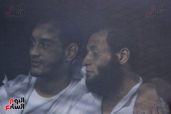 المتهمون باغتيال اللوا نبيل فراج أثناء محاكمتهم
