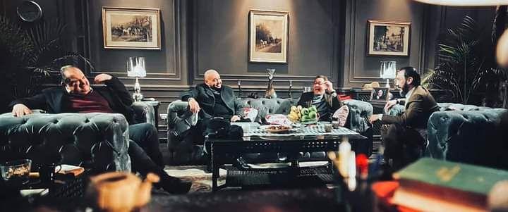 مشهد اجتماع الاصدقاء الاربعة فى القاهرة كابول