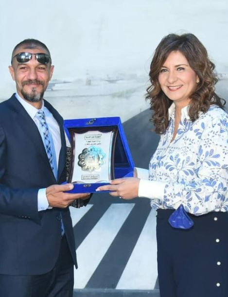 السفيرة نبيلة مكرم تكرم أحمد شعبان