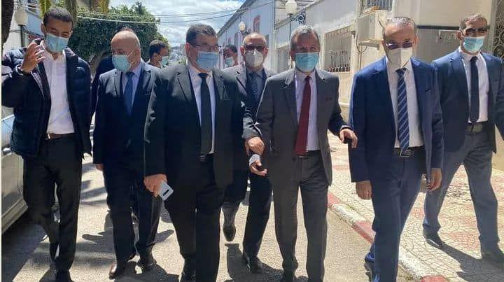 زيارة وزير الصحة الجزائرى للمناضلة جميلة بو حيرد