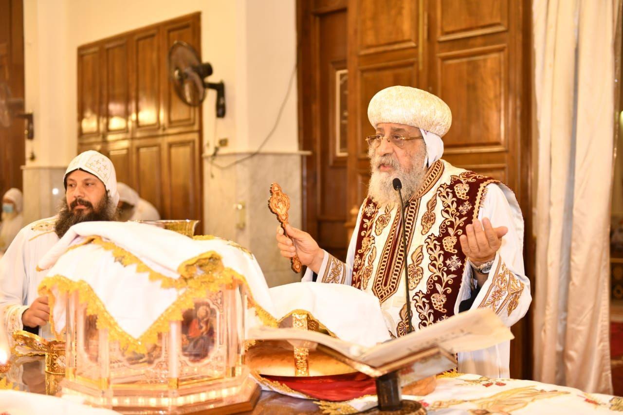 البابا تواضروس خلال صلوات شم النسيم