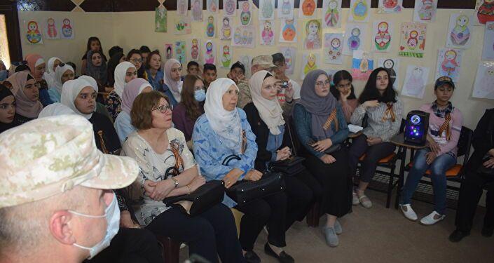 الجالية الروسية في درعا تدشن الاحتفالات بعيد النصر