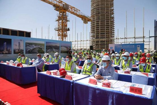 الانتهاء-من-الهيكل-الخرسانى-للبرج-العاشر-فى-العاصمة-الإدارية-بطول-174-متر