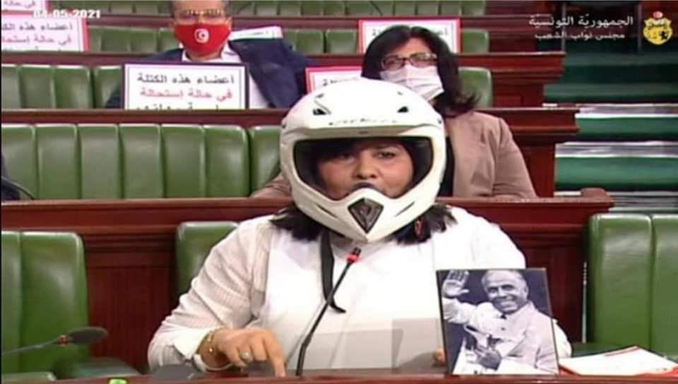 عبير موسى داخل مجلس نواب الشعب التونسي