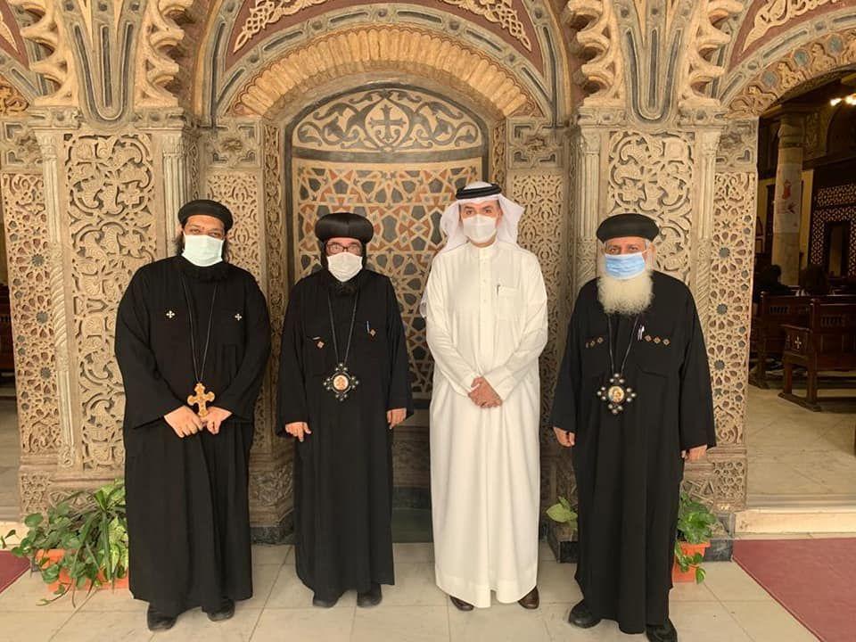 جانب من زيارة سفير البحرين