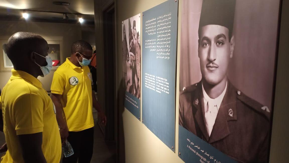 المشاركون فى المنحة خلال زيارة زيارة متحف الزعيم جمال عبدالناصر