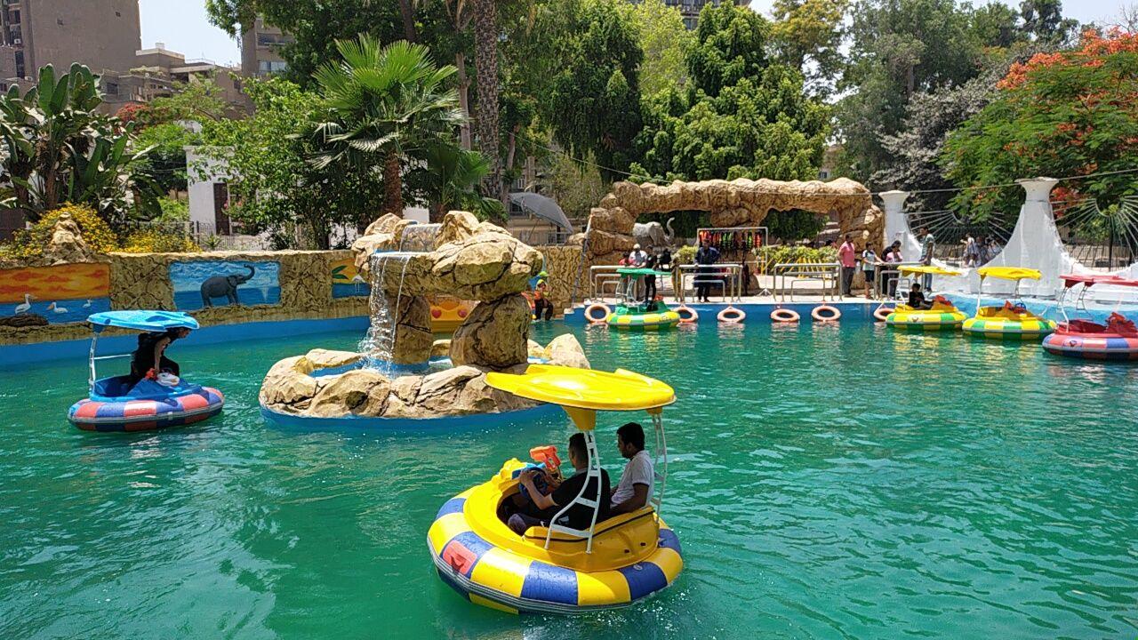 بدالات نهرية فى حديقة الحيوان للأطفال