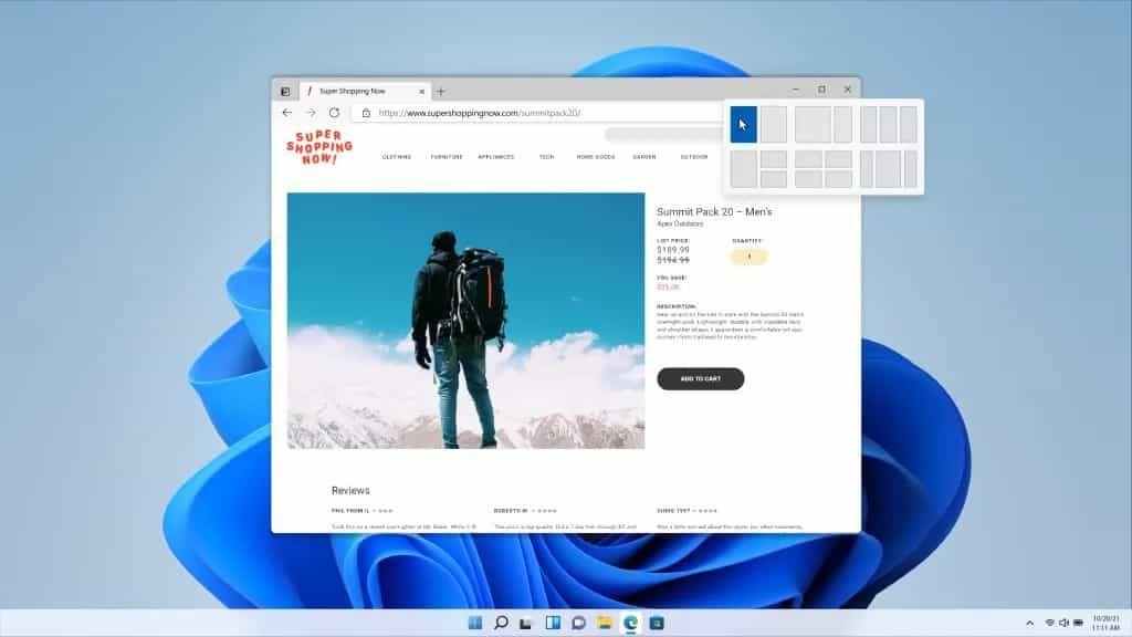 التغييرات البصرية في ويندوز 11