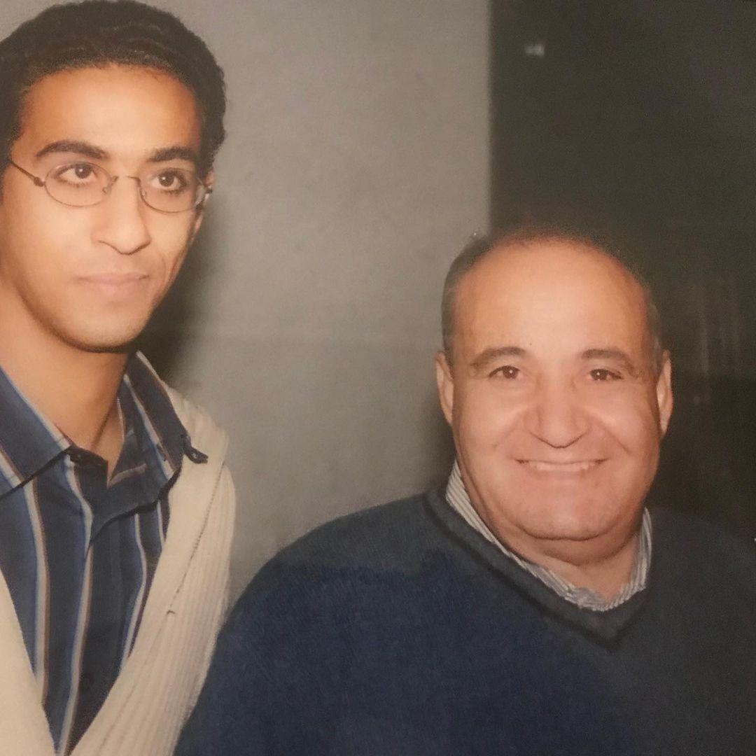مروان مع والده الراحل وحيد حامد