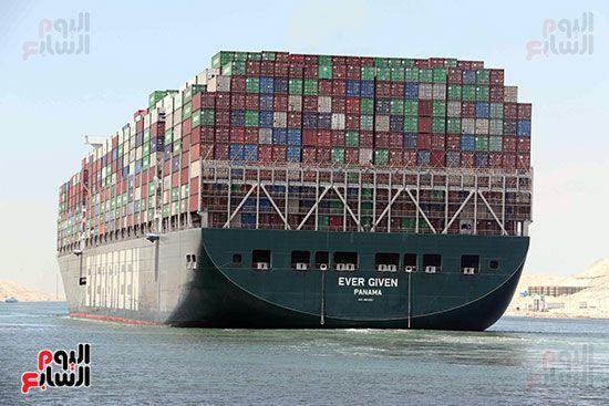 تحركت السفينة دائمة الخضرة