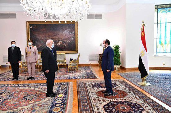 الرئيس السيسي يشهد أداء المستشار حسين مصطفى فتحي اليمين الدستورية كرئيس لجهاز شؤون الدولة (3)