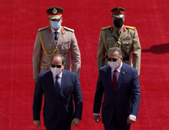 رئيس الوزراء العراقي يستقبل الرئيس السيسي
