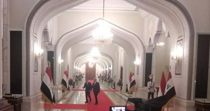الرئيس السيسي ونظيره العراقي