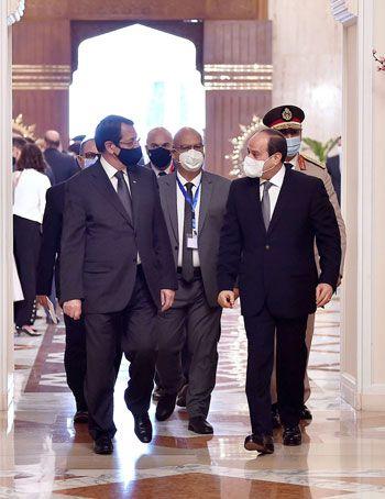 جلسة مباحثات ثنائية بين رئيس السيسي ونظيره القبرصي في القصر الاتحادي (2)