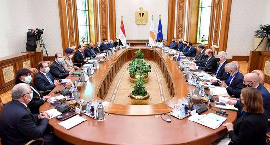 جلسة مباحثات ثنائية بين الرئيس السيسي ونظيره القبرصي في القصر الاتحادي (5)