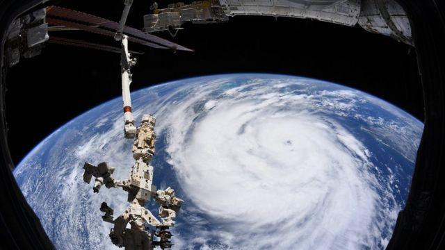 صورة للإعصار أيدا من الفضاء