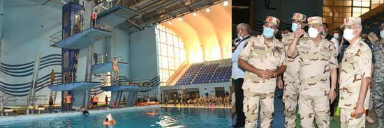 وزير الدفاع يتفقد اختبارات القبول للجامعات العسكرية (3)