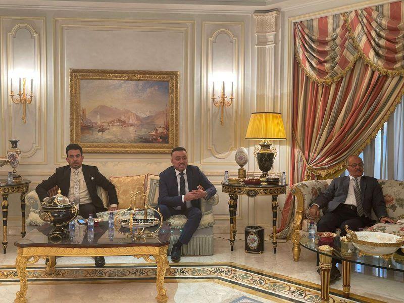 خالد المالك يحتفي بنقيب الصحفيين العراقيين - المواطن