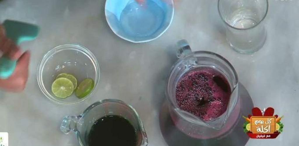 طرق تحضير ميكس عصير الكركديه مع الليمون والنعناع  فيديو