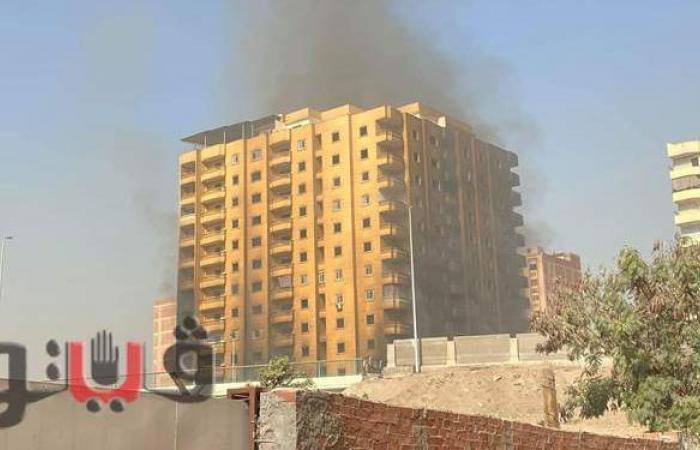 استمرار تصاعد الأدخنة من مبنى فيصل المشتعل وإغلاق الطرق من الجانبين |فيديو