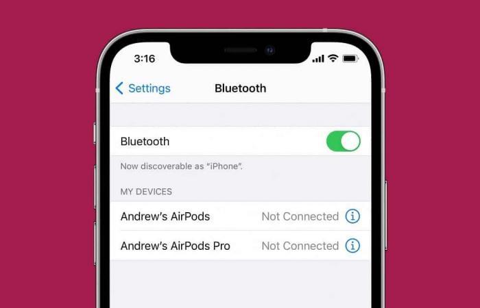 كيف يمكنك تصنيف الأجهزة المتصلة عبر البلوتوث في إصدار iOS 14.4؟
